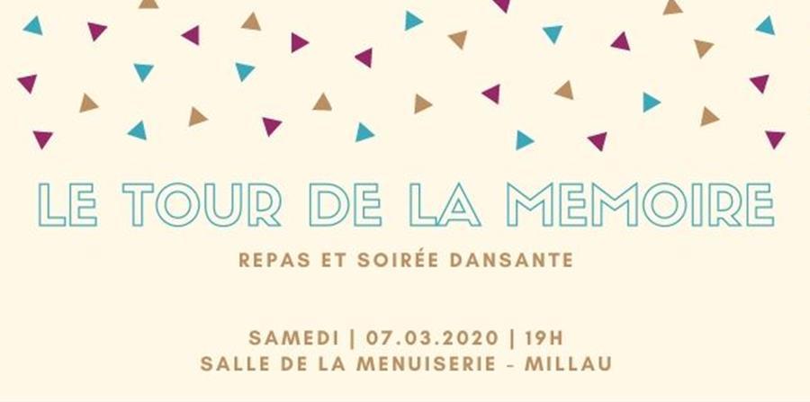Repas et soirée dansante caritative pour le Tour de la Mémoire - LE TOUR DE LA MEMOIRE