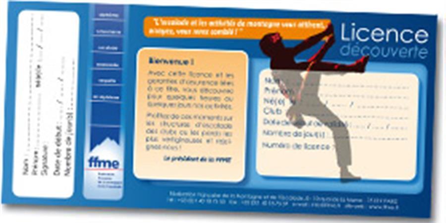 Licence découverte 1 jour - Association Montagne Reunion