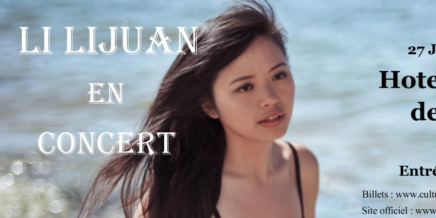 LI LIJUAN en concert - Culture Chine Touraine