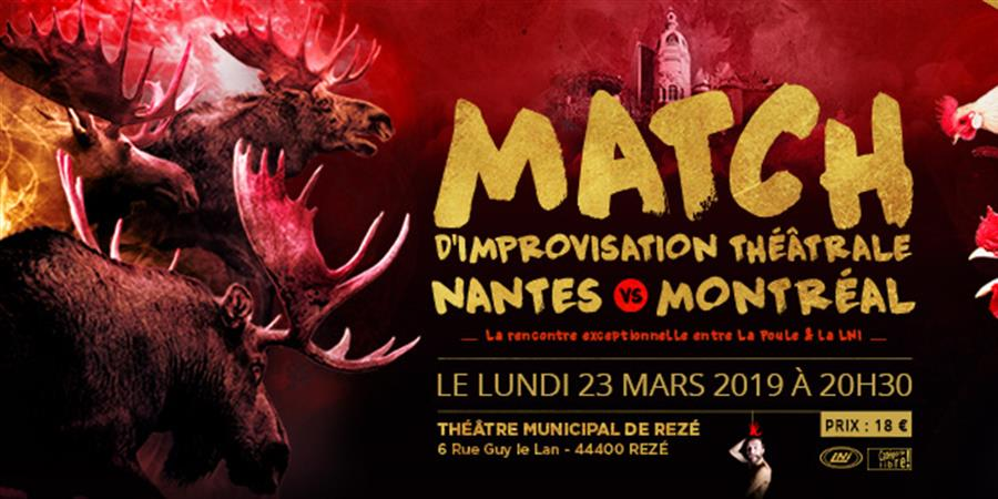 Match d'impro La Poule vs LNI - 23 mars - 20h30 - La Fabrique à Impros
