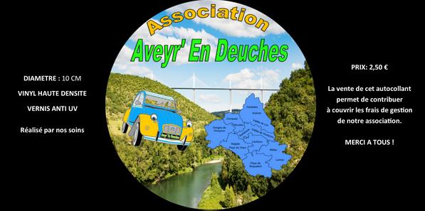 Autocollant Officiel A.E.D - Aveyr' En Deuches