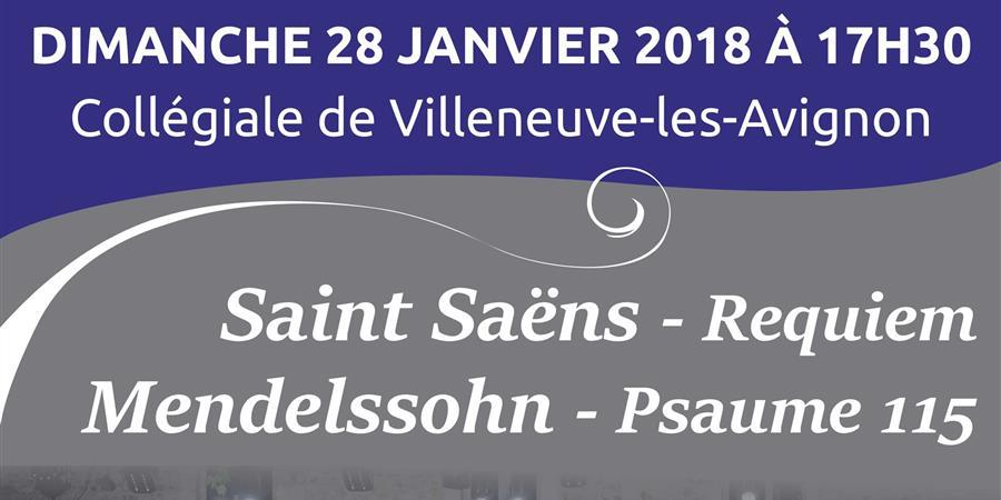Rencontres - Requiem Saint Saens - Psaume 115 Mendelssohn - Poulenc Duruflé... - ensemble vocal Olivier Messiaen