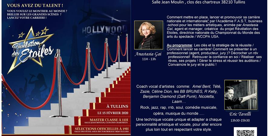 MASTER CLASS TULLINS - Queen voice event's