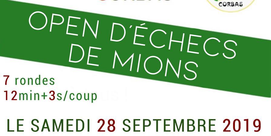 1er Open Rapide de Mions - Echecs Club de CORBAS