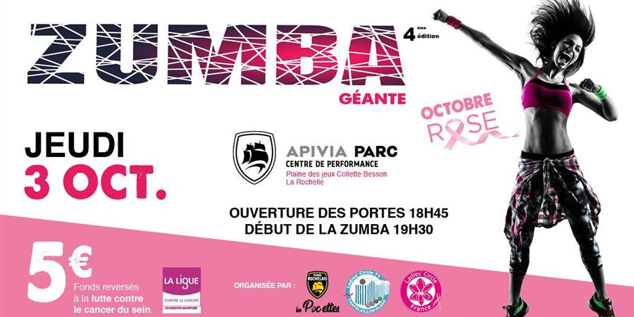 ZUMBA GEANTE OCTOBRE ROSE - LADIES' CIRCLE 71 CHÂTELAILLON-PLAGE