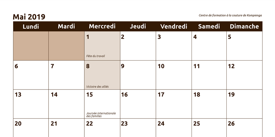 Calendrier Vistaprint 2019.Calendrier Photo 2019
