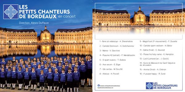 Les Petits Chanteurs de Bordeaux - CD 2016 (16 Titres) - Les Petits Chanteurs de Bordeaux