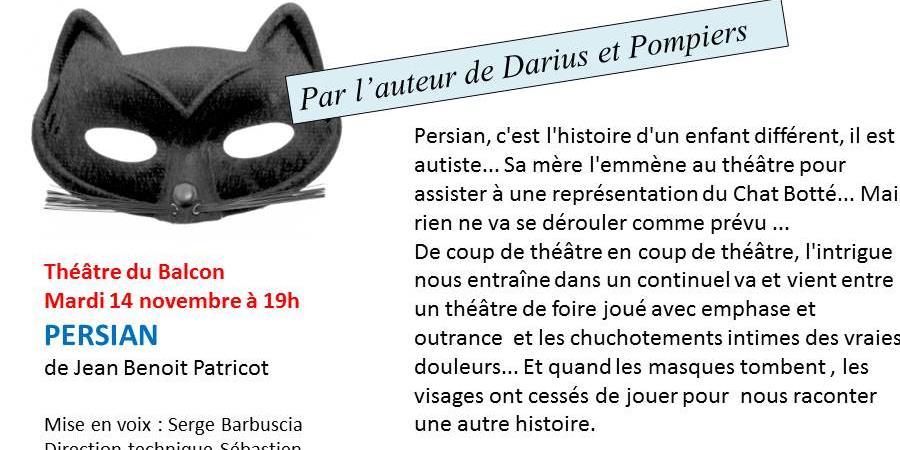 Darius au théâtre du Balcon, lecture publique en collaboration avec TEDAI 84. - TEDAI 84