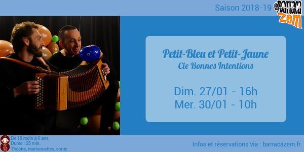 Mercredi - Petit-Bleu et Petit-Jaune - Cie Bonnes Intentions - Brasil Afro Funk