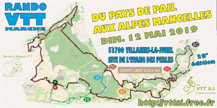 Rando VTT Du Pays de Pail aux Alpes Mancelles - V T T S I VILLAINES