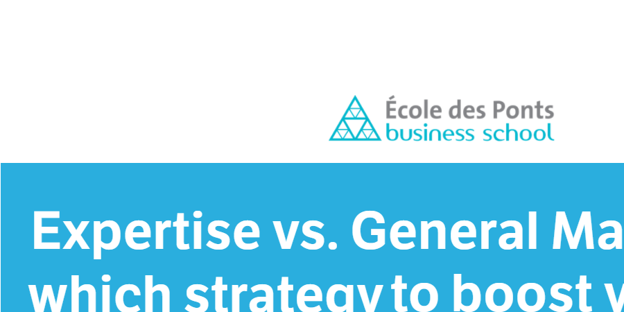 Séminaire Ecole des Ponts Business school : Expertise ou Management - AIMAF