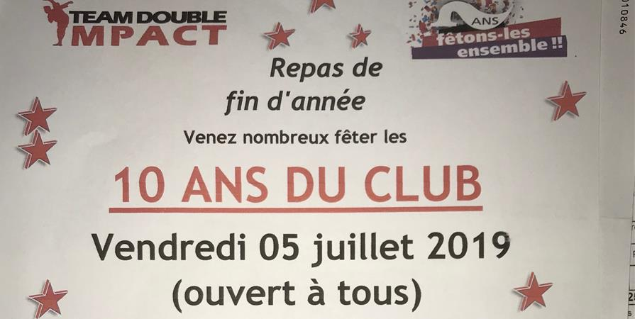 POT DE FIN D'ANNEE 2019 10ANS DU CLUB - DOUBLE IMPACT SAINTAIS
