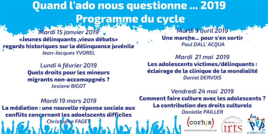 """CYCLE DE CONFERENCES """"QUAND L'ADO NOUS QUESTIONNE..."""" - ADPEP 66"""