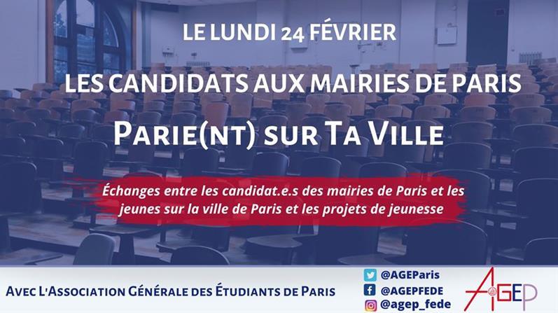 Débat Municipales - Quand les candidats Parie(nt) Sur Ta Ville - - AGEP