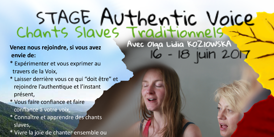 Stage Authentic Voice – Chants slaves traditionnels -