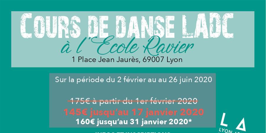 INSCRIPTION COURS LADC À L'ÉCOLE RAVIER  - LADC - Danse & Forme
