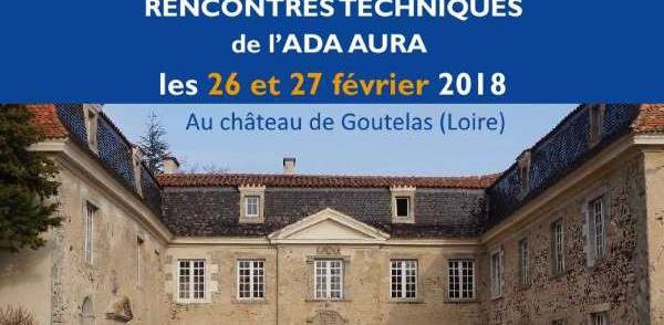 Rencontres techniques 2018 de l'ADA AURA - ASSOCIATION POUR LE DEVELOPPEMENT DE L'APICULTURE EN AUVERGNE-RHONE-ALPES