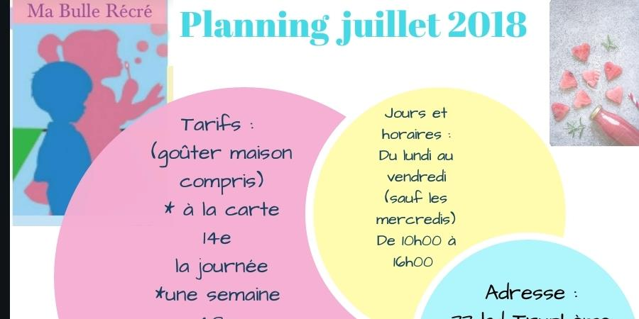 STAGES VACANCES D 'OCTOBRE 2018  - MA BULLE RECRE