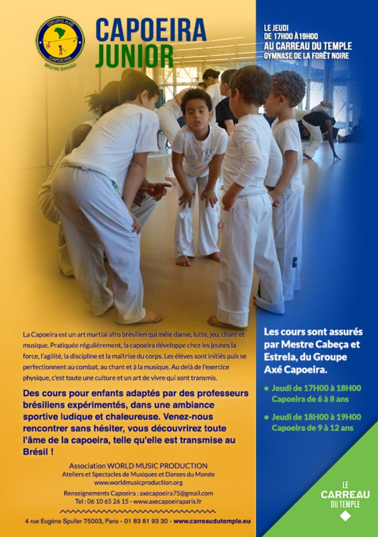 Cours de capoeira juniors - WORLD MUSIC PRODUCTION