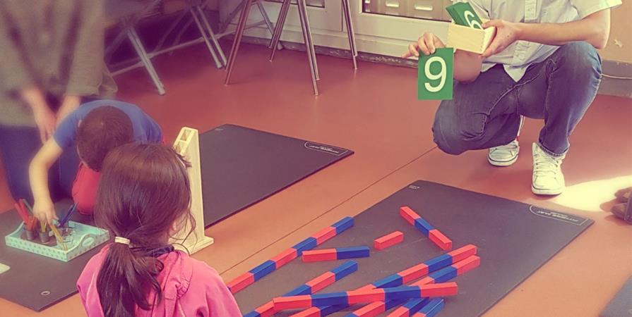 Ateliers Montessori: 1 adulte / 1 enfant de 3 - 6 ans - Mikado
