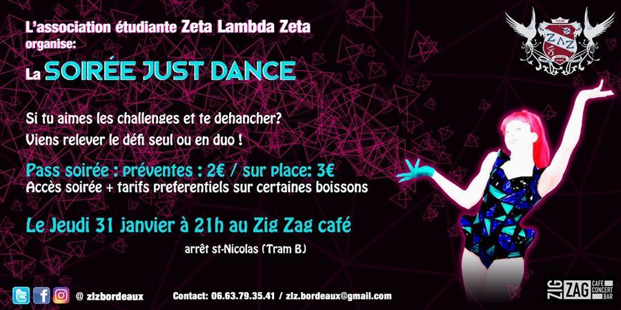 Soirée Just Dance des ZΛΖ - Zeta Lambda Zeta ZLZ