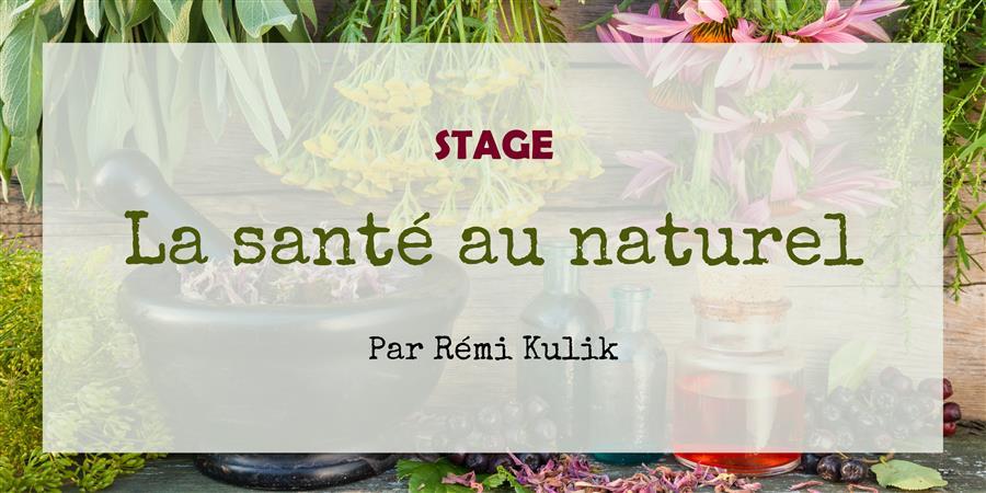 Stage La santé au naturel - 13 juin COMPLET - Le Jardin d'Emerveille