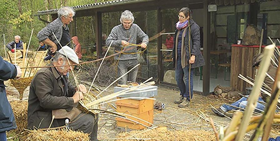 fabrication d'une ruche traditionnelle en vannerie - Terran, terre de partage