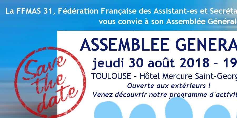 FFMAS 31 : ASSEMBLEE GENERALE ANNUELLE 2017 (du jeudi 30 août 2018) - FFMAS Haute-Garonne