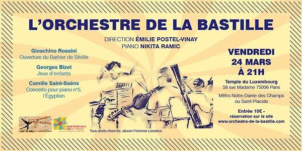 St SAËNS - BIZET - ROSSINI -- ORCHESTRE DE LA BASTILLE - Orchestre de la Bastille