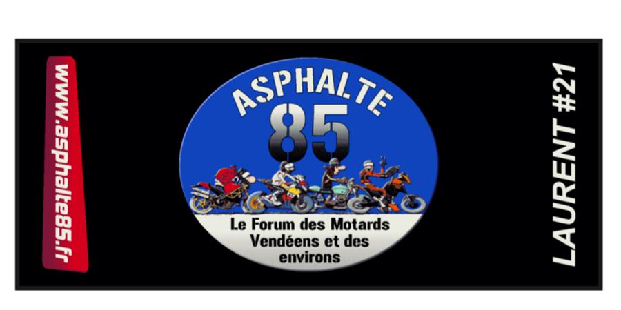 Vente de tapis environnemental Asphalte 85 personnalisable - ASPHALTE 85