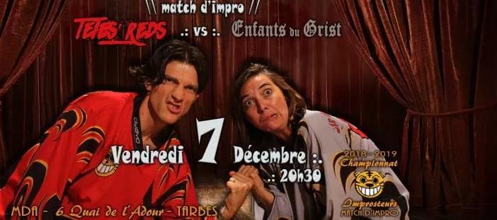 Match d'improvisation Les Têtes Red/Les Enfants du Grist - CIE DES IMPROSTEURS