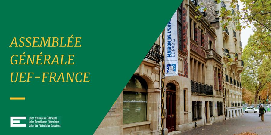 Assemblée générale 2019 de l'UEF-France - Union des fédéralistes européens - France