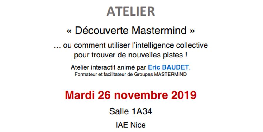 Découverte Mastermind - IAE Nice Alumni