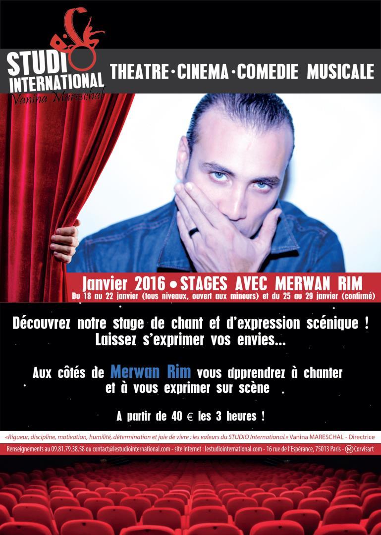 Dernières places pour les stages de Merwan Rim de janvier ! - STUDIO International Vanina Mareschal