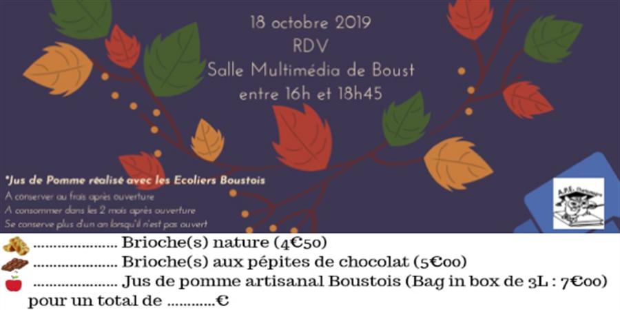 Vendredi Gourmand Automne - APE Charlemagne Boust