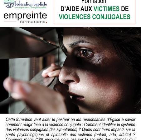 Formation  sur deux jours D'AIDE AUX VICTIMES DE VIOLENCES CONJUGALES - FEEBF