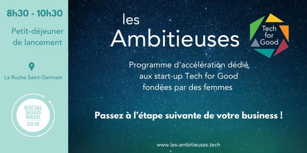 Petit-déjeuner de lancement de l'appel à projet #LesAmbitieusesTFG - Académie des Ruches