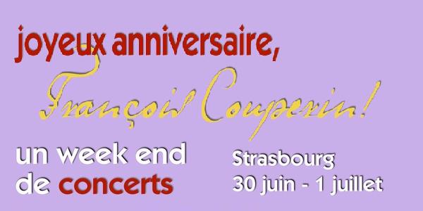 Joyeux anniversaire, François Couperin : PASS 3 concerts - Le Parlement de Musique