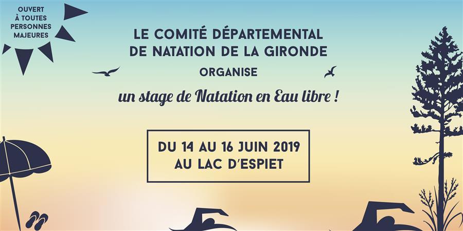 Stage Osez la natation en eau libre - Comité Départemental de Natation de la Gironde