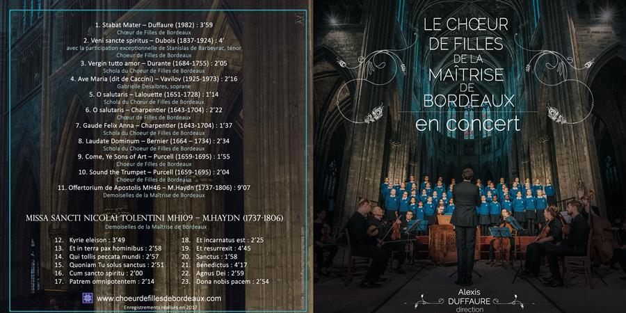 """CD Le Chœur de Filles de Bordeaux """"en concert"""" / Ensemble instrumental - Le Choeur de Filles de la Maîtrise de Bordeaux"""