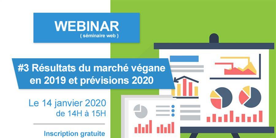 Billetterie Webinar #3 Les chiffres du marché végane le 14 janvier 2019 - VEGAN FRANCE