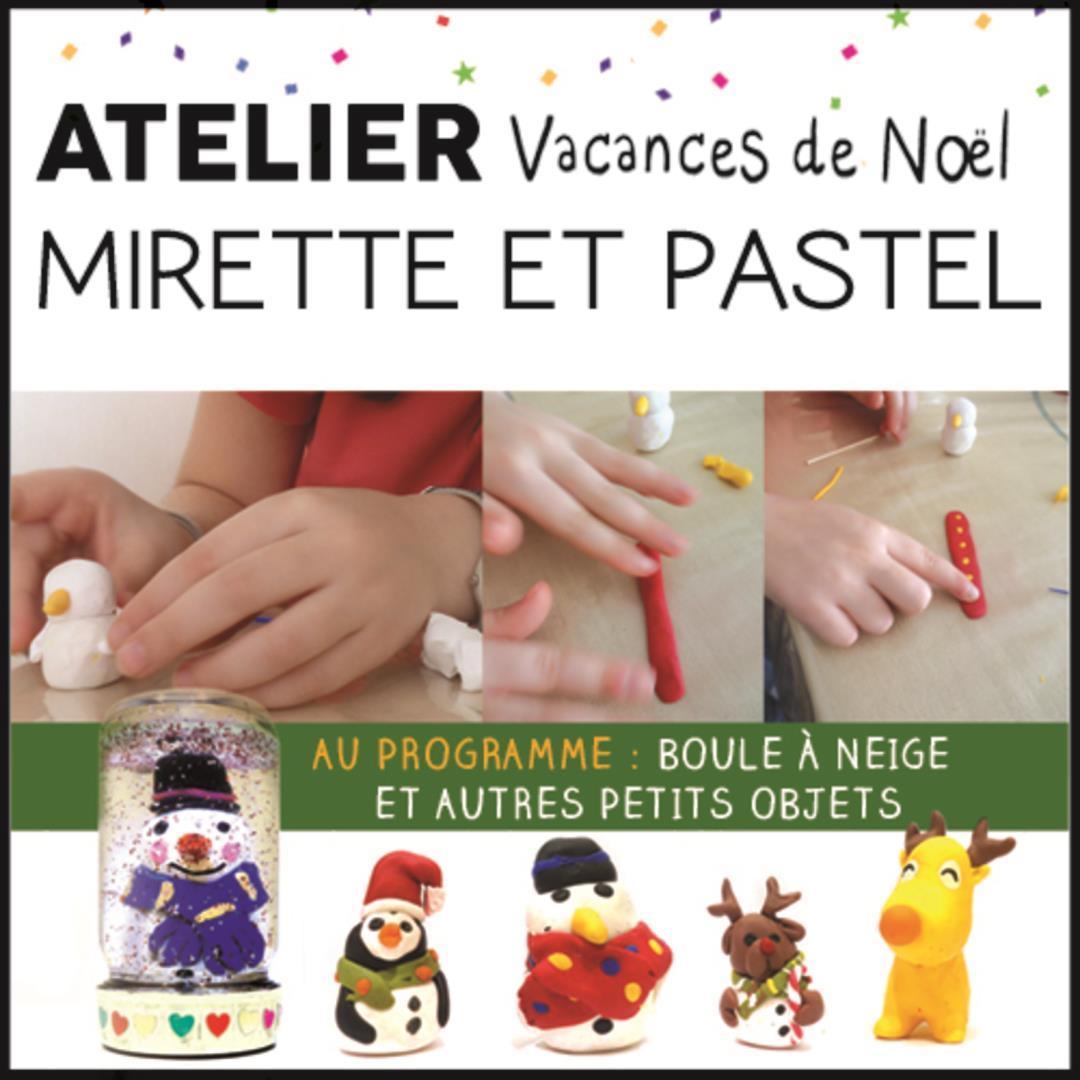 Stage enfants fimo / vacances de Noël  - Association Mirette et Pastel
