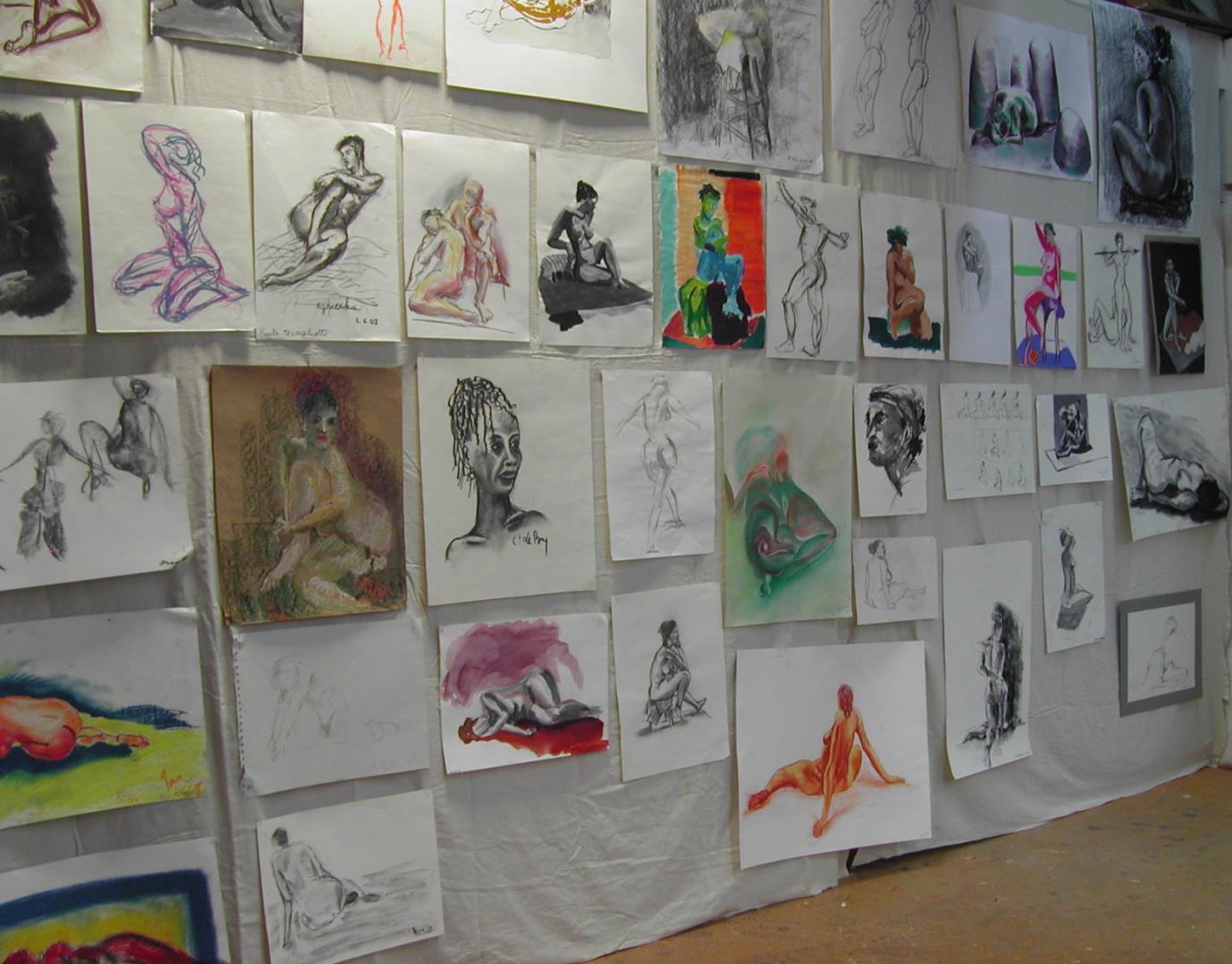 Cours de dessin peinture polyvalent - L' Atelier Saint Fargeau