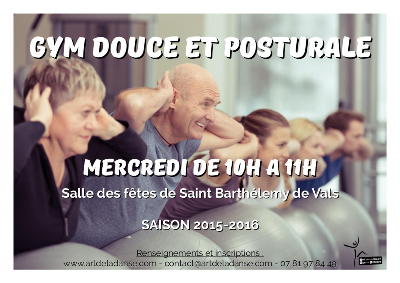 Gym douce et posturale - Art de la danse, Gym et Loisirs