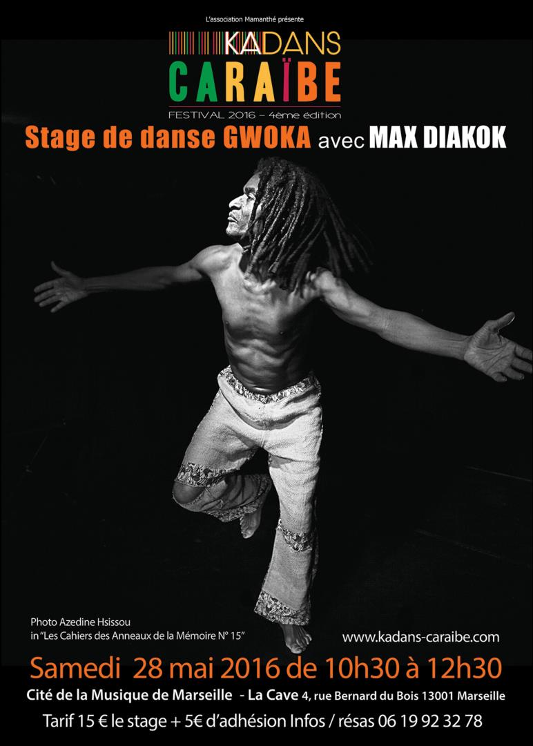 Stage de danse gwoka avec Max Diakok - Association Mamanthé
