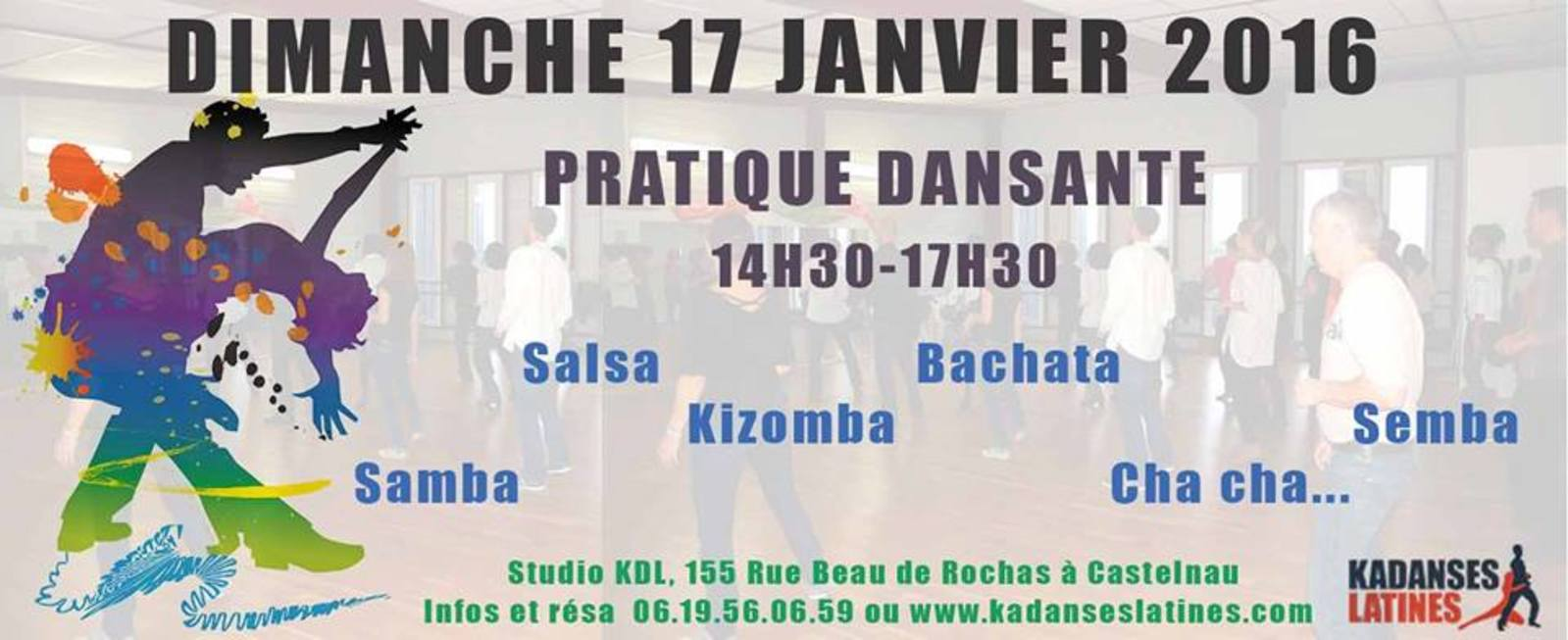 "Pratique dansante du dimnache by ""Kadanses Latines"" - Association KADANSES LATINES"