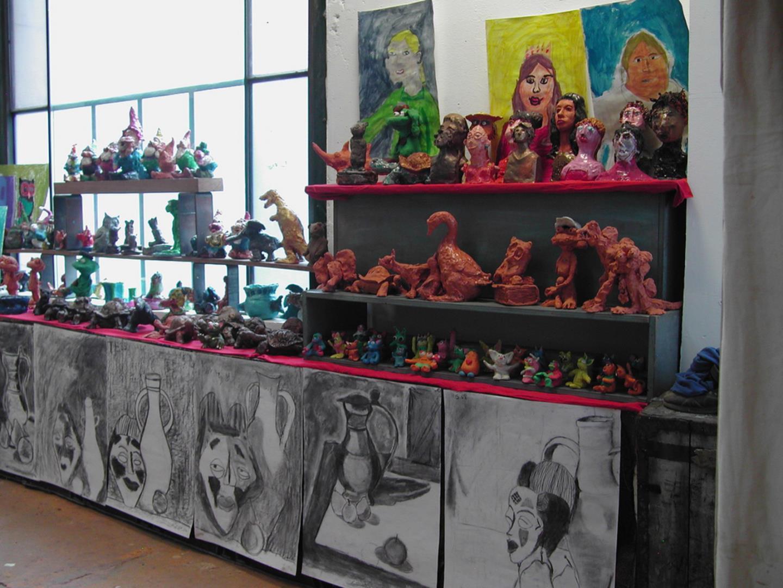 Cours de dessins peinture sculpture pour enfants - L' Atelier Saint Fargeau