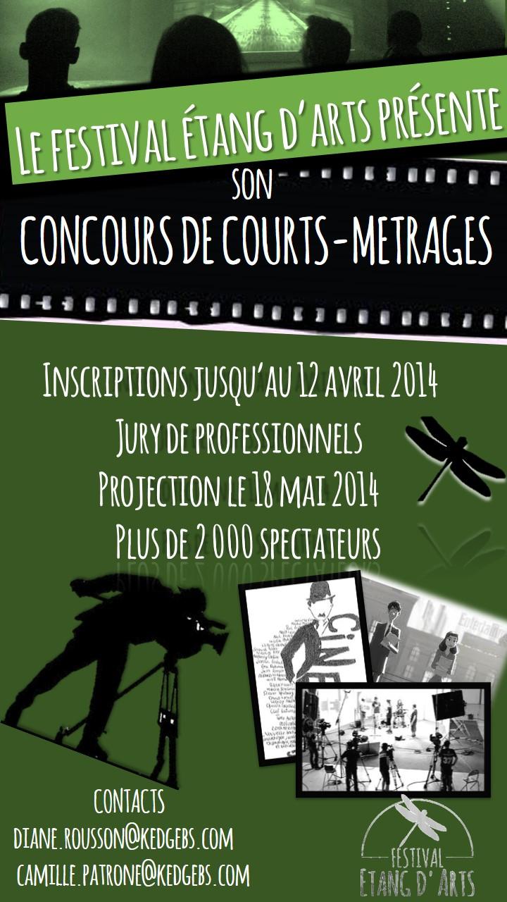 Affiche concours de cours-métrages 2014
