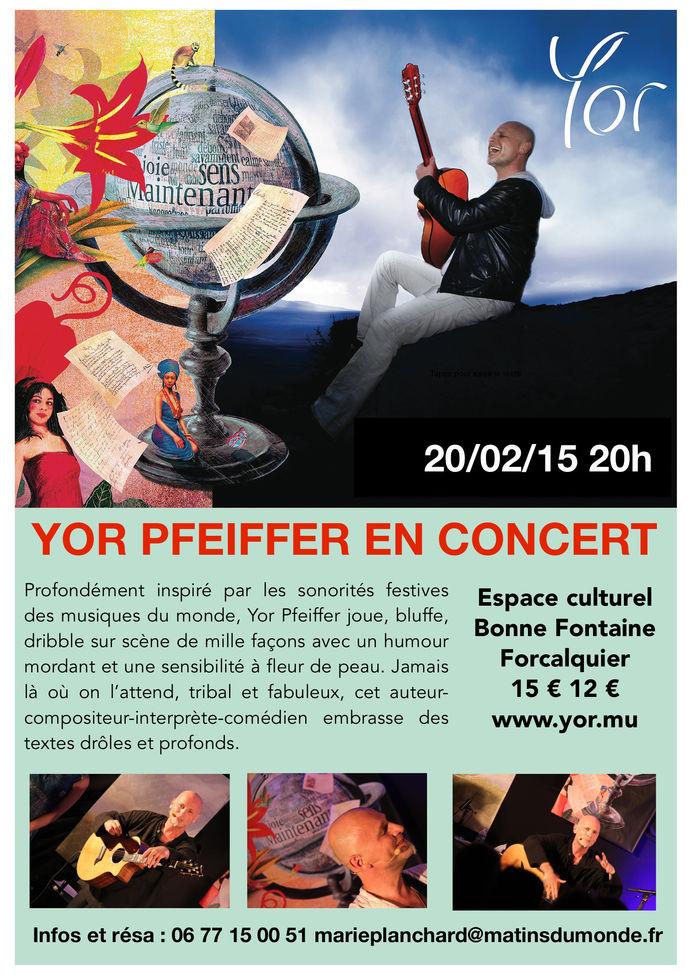 Affiche concert Yor Pfeiffer