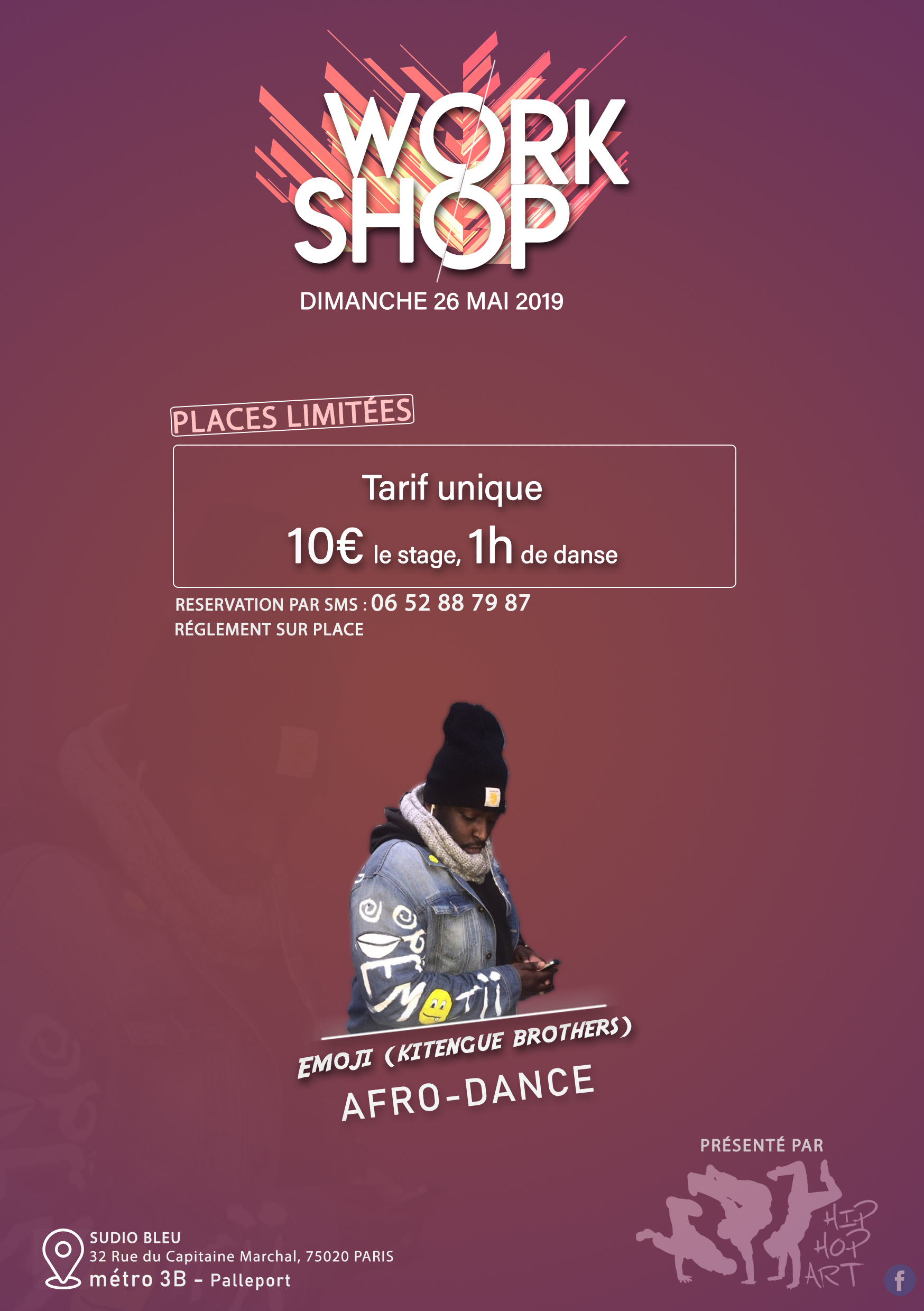 WORKSHOP AFRO DANCE AVEC EMOJI (KITENGUE BROTHERS) - Hip Hop Art